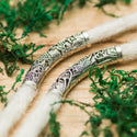 DreadLab - Metal Curved Tunnel #2 Dread Beads Silver Colour