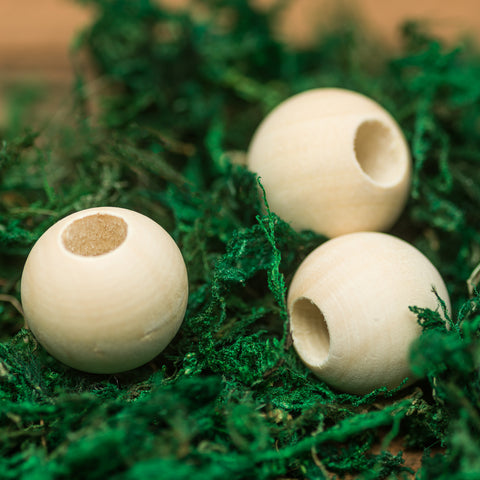 DreadLab - Wood Round Large Dread Beads Natrual Colour