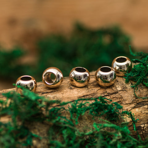 DreadLab - Plastic Bubblegum Dread Beads Gold Colour