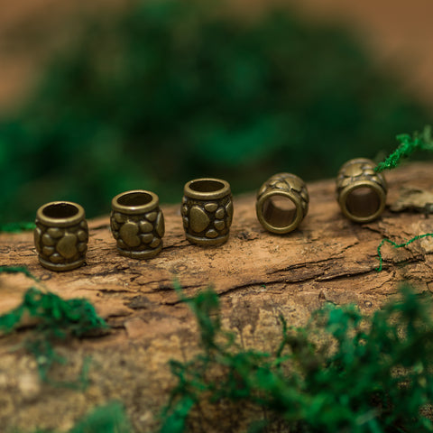 DreadLab - Metal Bear Paw Column Dread Beads Bronze Colour
