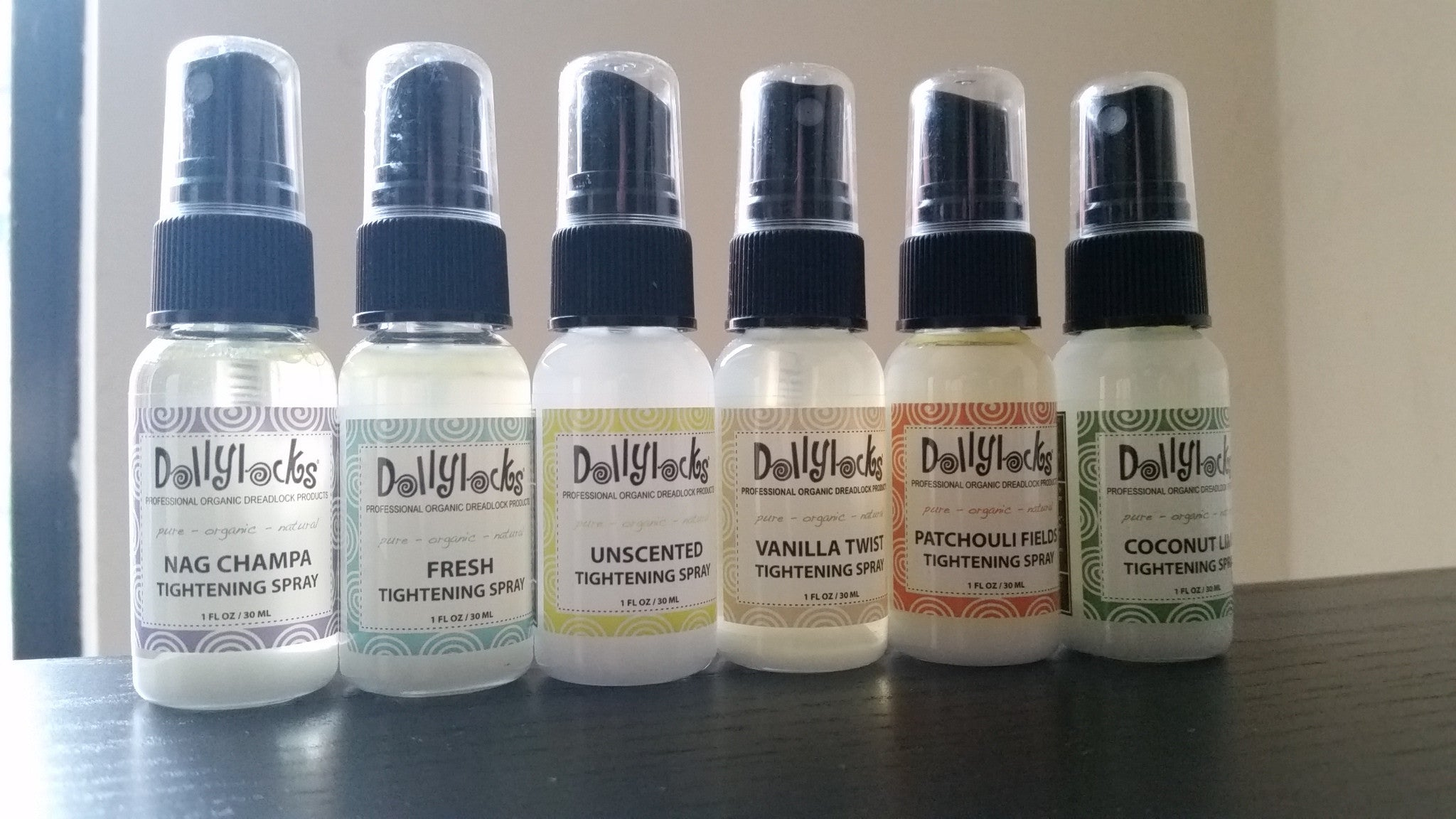 Dollylocks - Dreadlocks Tightening Spray Travel Size Set With Gift Box (6x 1oz)