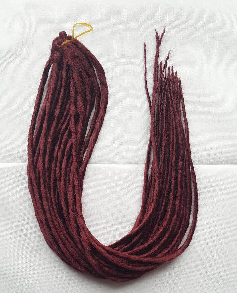 Elysee Star - #39 Burgundy Red Synthetic Dreadlocks (Double Ended) (10 Pack)