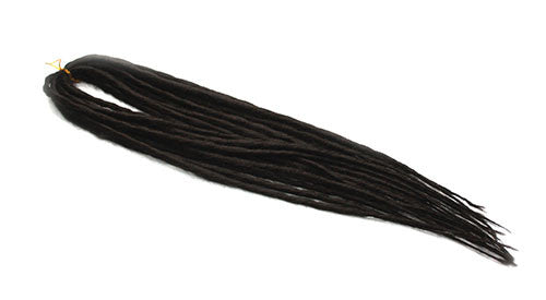 Elysee Star - #4 Dark Brown Synthetic Dreadlocks (Double Ended) (10 Pack)