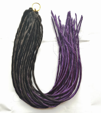 Elysee Star Dreadlocks Black Dark Purple Transitional