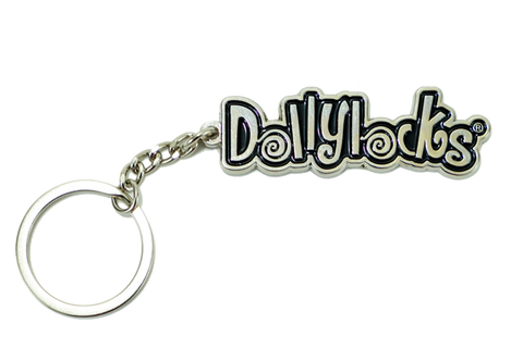 Dollylocks - Logo Metal Keychain