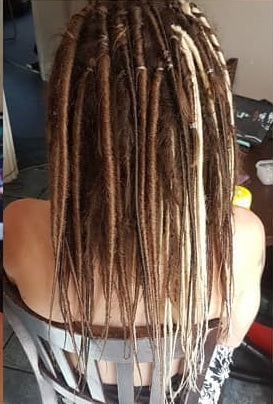 DreadLab - Single Ended Synthetic Dreadlocks (Half Head Kit) Backcombed Extensions