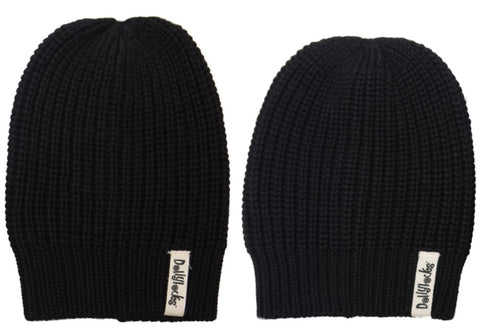 Dollylocks - Dreadlocks Black Knit Cotton Beanie