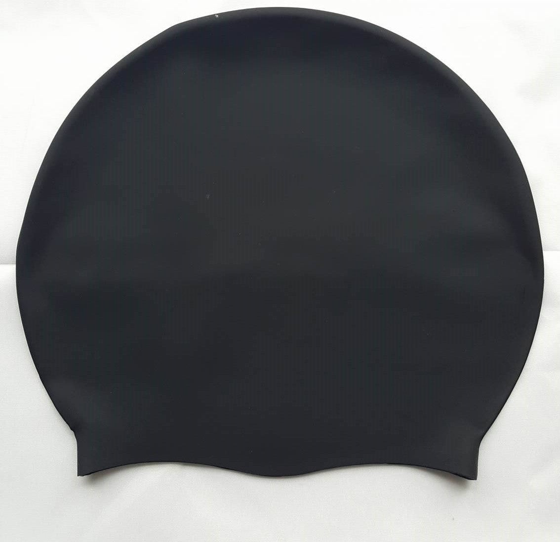 DreadLab Large Plain Black Dreadlocks Swim Cap