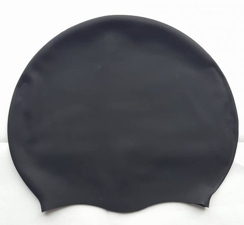 DreadLab Medium Large Plain Black Dreadlocks Swim Cap