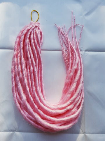 Elysee Star - #Snow Pink Synthetic Dreadlocks (Double Ended)