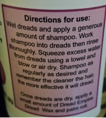 Dread Empire Soothing Scalp Liquid Shampoo Directions