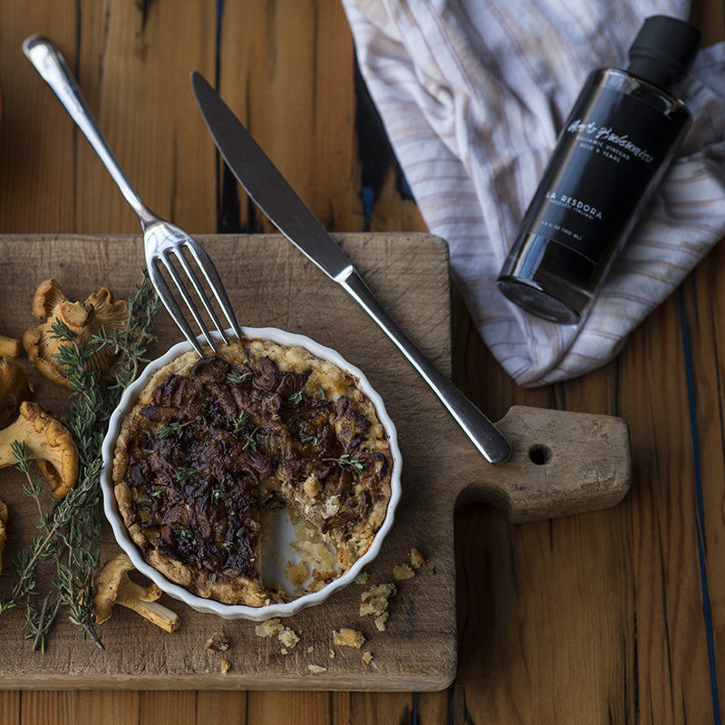 A hearty mushroom-balsamic tart for winter
