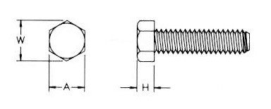 Nylon Hex Head Bolt, 10-32 x 3/4