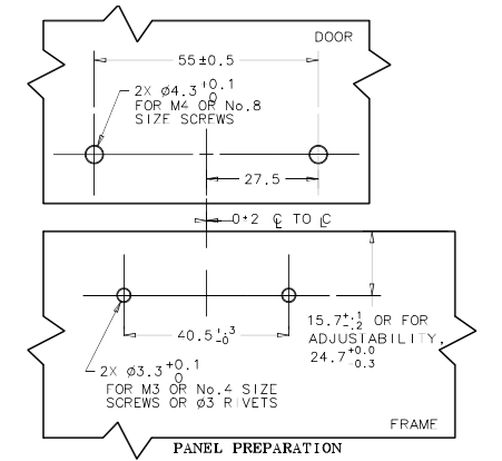 Southco C3 Grabber Latch Mounting Instructions