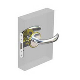 Cabin Door Latch Set, Right/Out Swing Style
