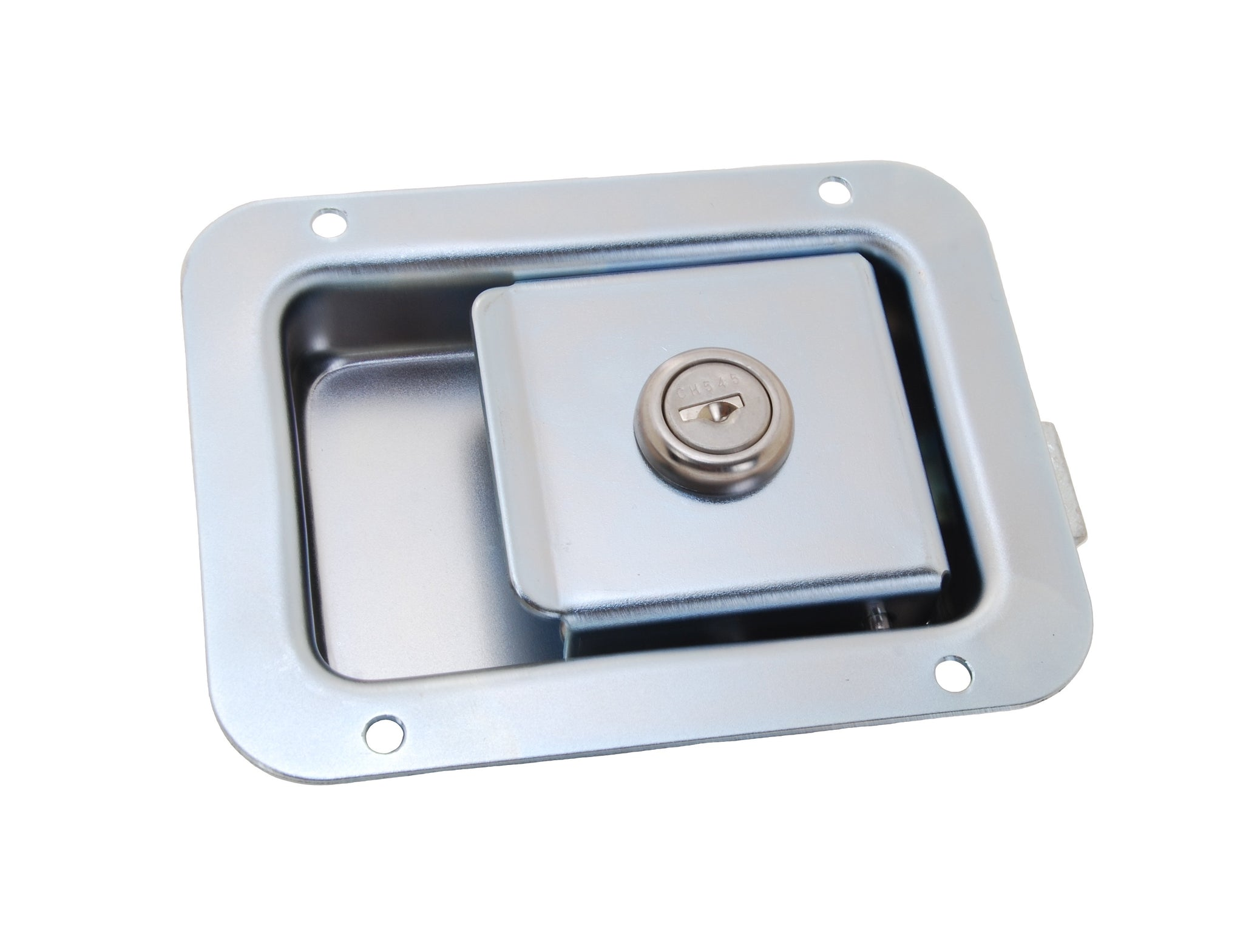 Paddle latch, locking, zinc