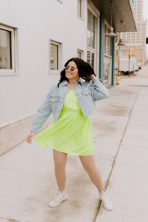 Let's Get Lit Neon Mini Dress