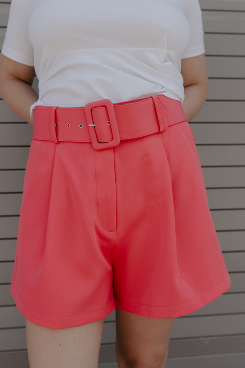 Make It Mod Belted Shorts