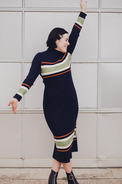 I'd Stripe Right Midi Dress