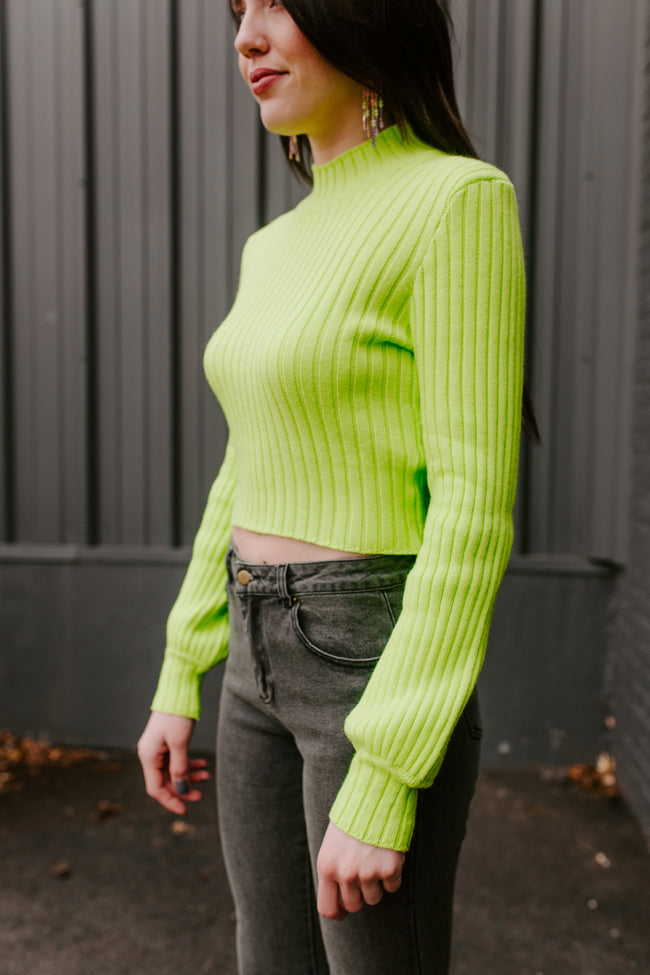 What's Glowing On Neon Sweater