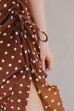 Cocoa Dot Midi Dress