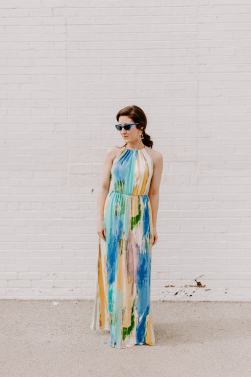 All The Watercolors Maxi Dress