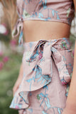 Flirty In Floral Skort Shorts