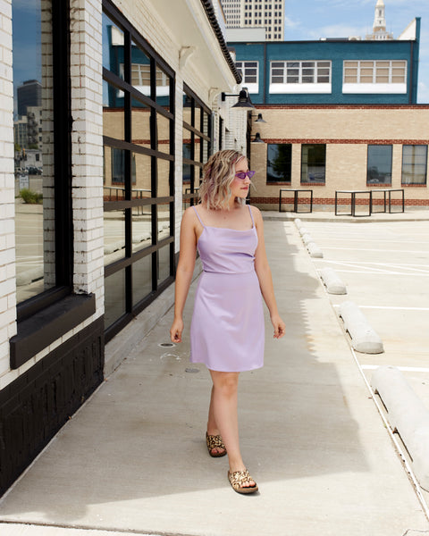 Lady Lavender Mini Dress
