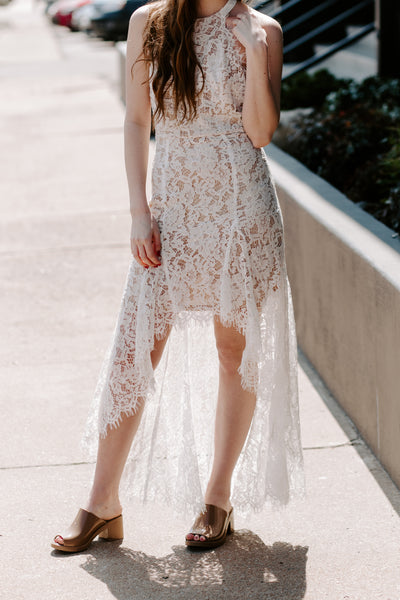 Laced With Elegance Midi Dress