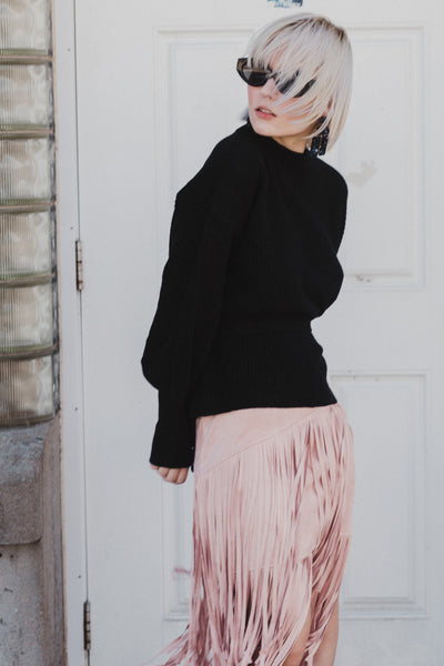 Fringe Worthy Asym Skirt
