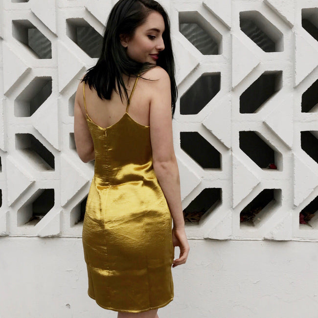 Acid Yellow Slip Dress