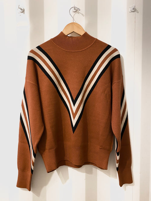 Varsity Hues Turtleneck Sweater