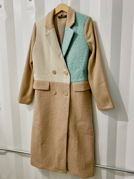 Color Block Me Trench Coat
