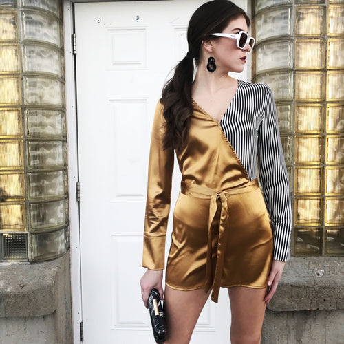 Dripping In Gold Romper