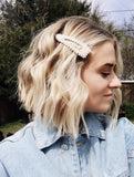 Keep It Pearly Oversized Barrette