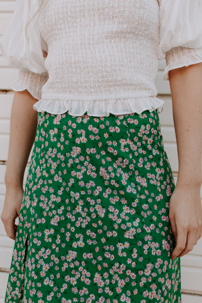 Be My Wildflower Midi Skirt