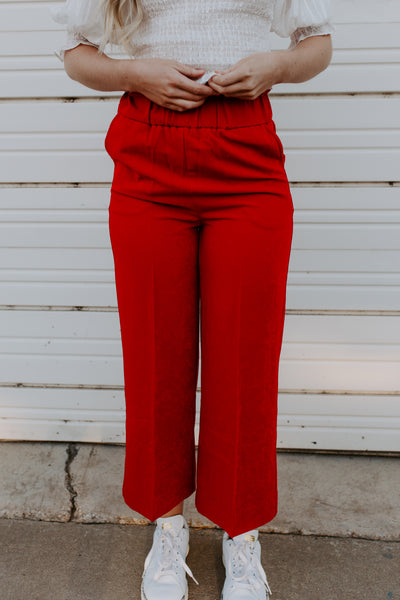 Red Hot Cropped Pants