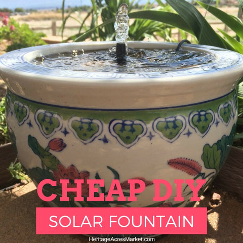 Cheap DIY Solar Fountain