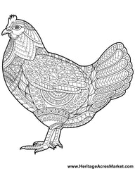Week 3 Free Coloring Page- Funky Chicken – Heritage Acres ...