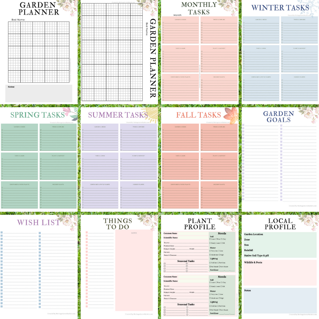 picture about Printable Garden Planner named Yard Planner Printables
