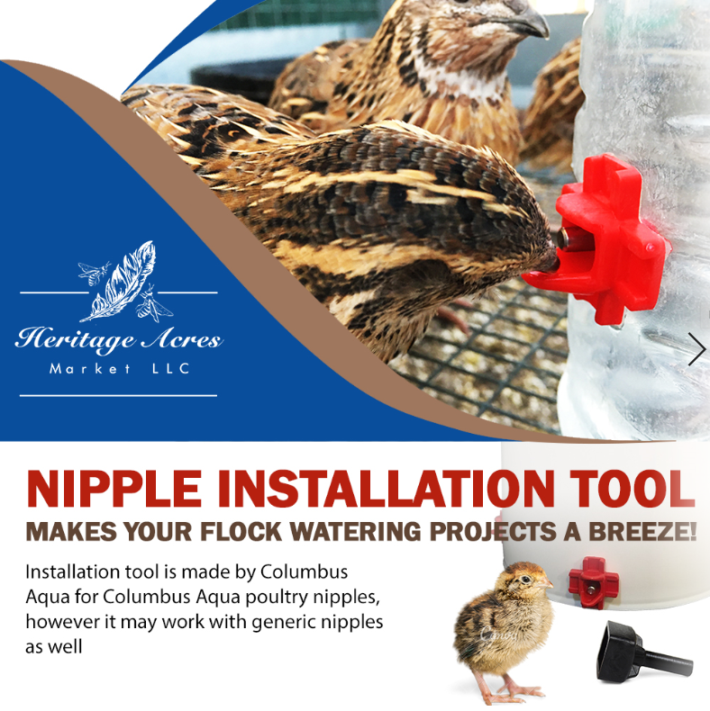 Nipple Installation Tool - Heritage Acres Market LLC