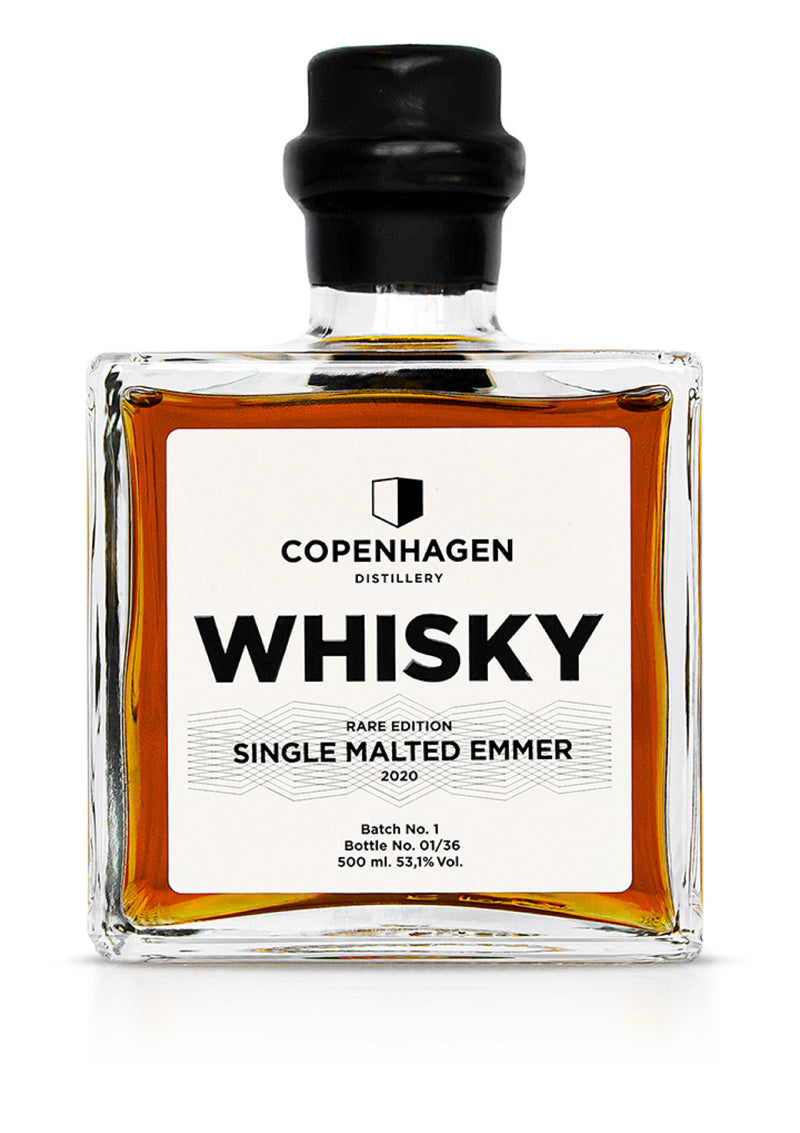 Copenhagen Single Malted Emmer Whisky, RARE Edition / Batch 1