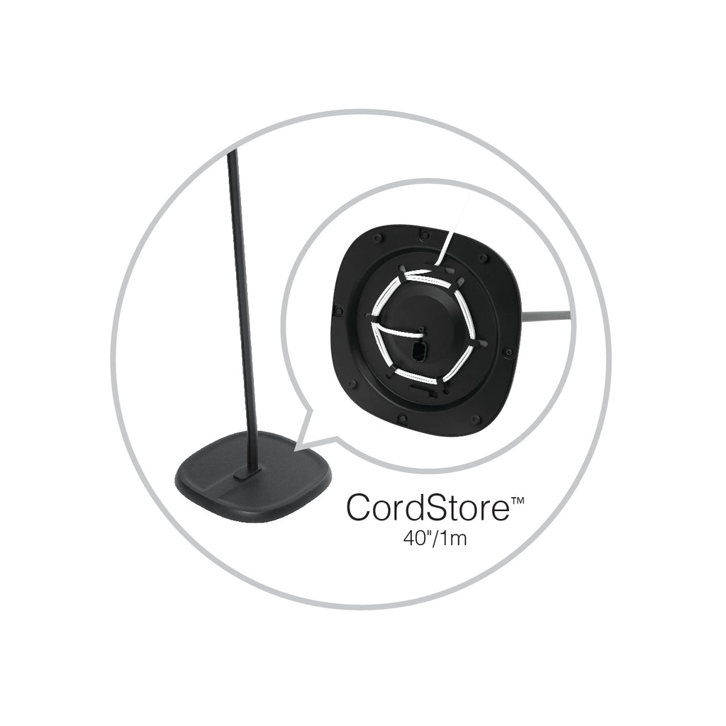 CordStore Conceals Excess Cord! No More Unsightly Cords On The Floor
