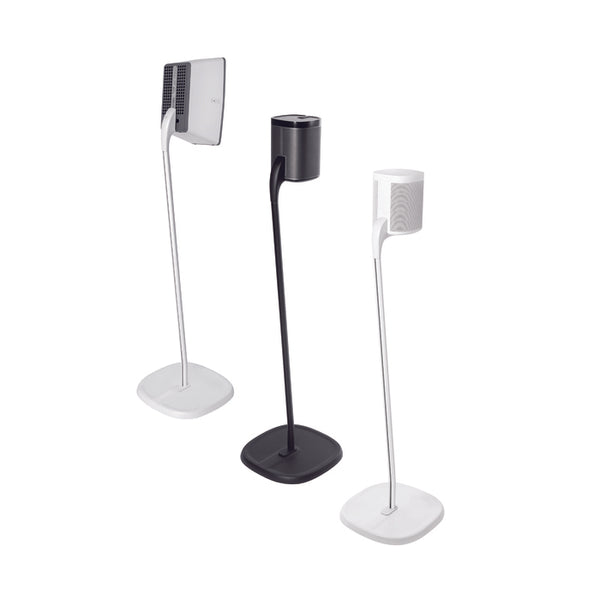 Speaker Stands for SONOS One, One SL, PLAY:1 or PLAY:3 - WHITE PAIR