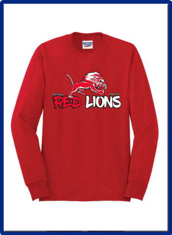 LIONS - 29LS JERZEES® - Dri-Power® 50/50 Cotton/Poly Long Sleeve T-Shirt