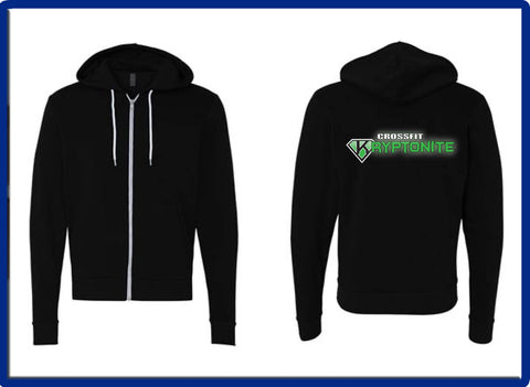 Crossfit Kryptonite - 3739 BELLA + CANVAS - Unisex Sponge Fleece Full-Zip Hoodie