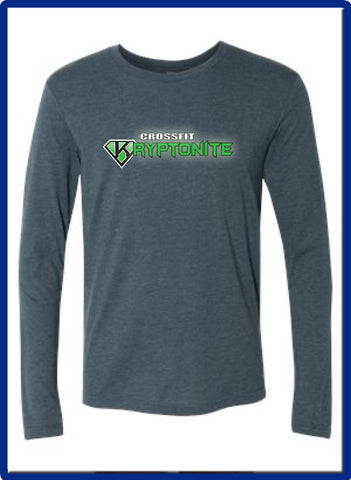Crossfit Kryptonite - 6071 Mens Next Level - Triblend Long Sleeve Crew