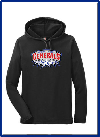 Generals - 987 Anvil® 100% Combed Ring Spun Cotton Long Sleeve Hooded T-Shirt