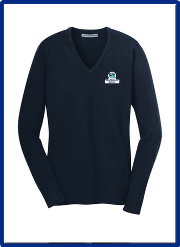 ENV MILLER - LSW285 Port Authority® Ladies V-Neck Sweater