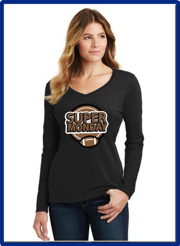 Super Monday - LPC450VLS Port & Company® Ladies Long Sleeve Fan Favorite™ V-Neck Tee